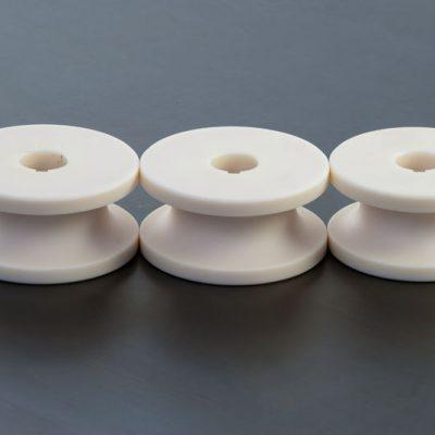 Terna di Rulli in Teflon per tubo in acciaio Inox D25mm