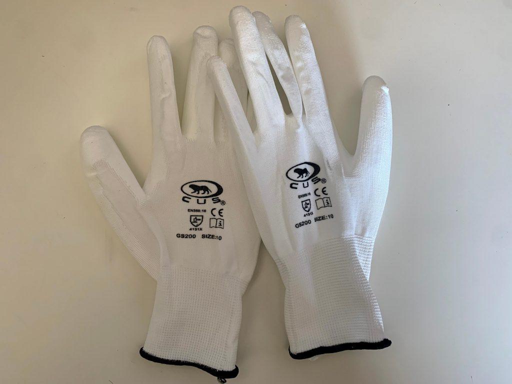 Guanti da lavoro per la protezione da rischi meccanici nylon e poliuretano 12 pz