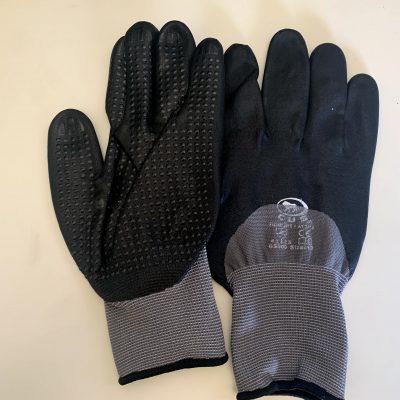 Guanto lavoro protezione rischi meccanici nylon e Foam Nitrile puntinato 12 pz